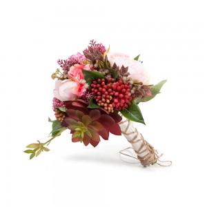 Pembe  Çiçek & Sukulent -El Çiçeği