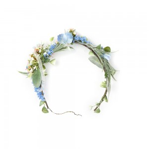 Mavi Çiçekli Taç